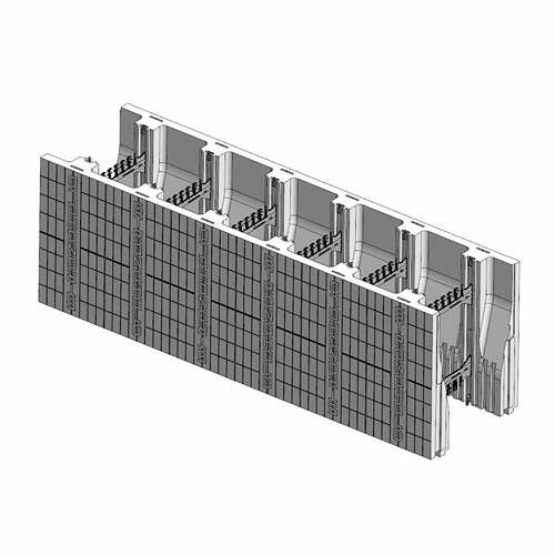 ICF Blocks & Insulation Products - FX Double Taper Top Block from Stronghold ICF