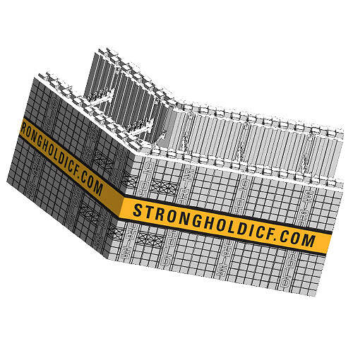 ICF Blocks & Insulation Products - FX 45 Corner Block from Stronghold ICF