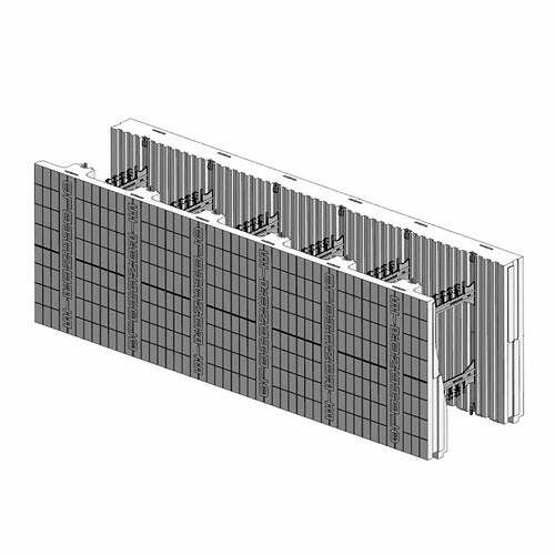 ICF Blocks & Insulation Products - FX Taper-Top Flat Top Block from Stronghold ICF